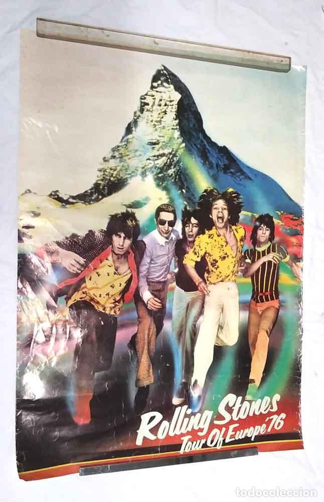 THE ROLLING STONES CARTEL TOUR OF EUROPE AÑO 1976. MED. 70 X 98 CM (Coleccionismo - Carteles Gran Formato - Carteles Varios)