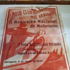 Carteles: CARTEL MOTO CLUB DE ARAGÓN 1948. Lote 209274790