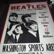 Carteles: THE BEATLES 1 CONCIERTO EN ESTADO UNIDOS WASHINGTON SPORT ARENA FEB 11 TH 1964 CARTEL. Lote 209711588