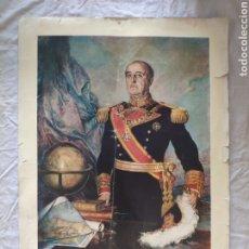 Carteles: LÁMINA GRAN RETRATO DE FEANCISCO FRANCO BAHAMONDE, EDITORIAL PATRIMONIO NACIONAL. Lote 210014182