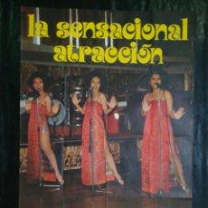 Carteles: CARTEL DEL CONJUNTO THE NIDYA SISITER. 1976.MIDE 92X74CMS. Lote 210546090