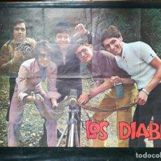 Carteles: CARTEL DEL CONJUNTO MUSICAL LOS DIABLOS 1971.MIDE95X68CMS. Lote 210547883