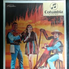 Carteles: CARTEL DEL CONJUNTO MUSICAL LOS CHILENOS 1974.MIDE 96X65CMS. Lote 210552468