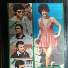 Carteles: CARTEL DEL CONJUNTO MUSICAL SYLVIA Y SU GRUPO SUPER'S SHOW. 1976.MIDE 92X65CMS. Lote 210553282