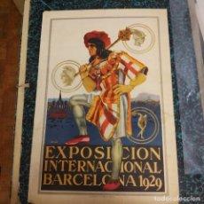 Carteles: EXPOSICIÓN INTERNACIONAL BARCELONA 1929 CARTEL ROJAS. Lote 211656706