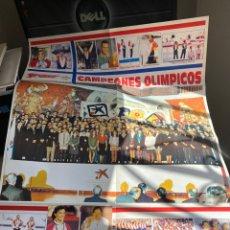 Carteles: CARTEL CAMPEONES OLÍMPICOS BARCELONA 92. Lote 212996752