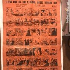 Carteles: AUCA II FERIA ANUAL DEL LIBRO DE OCASION, ANTIGUO Y MODERNO 1953. Lote 215550318