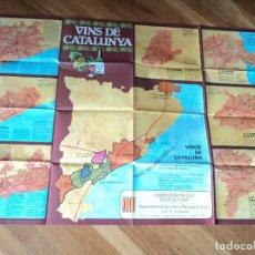 Carteles: POSTER VINOS DE CATALUÑA -VINS DE CATALUNYA 1980- 94X65 CM. Lote 215600898