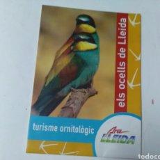 Carteles: ELS OCELLS DE LLEIDA .TURISME ORNITOLÓGIC. Lote 215743350