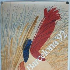 Carteles: CARTEL OLIMPIADAS BARCELONA 92/ENRIC HUGUET. Lote 216971122