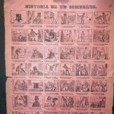 Affiches: AUCA - ALELUYA - HISTORIA DE UN SOMBRERO - 32 X 44 CM - PRINCIPIOS SIGLO XX. Lote 217329041
