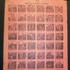 Affiches: AUCA - ALELUYA - HISTORIA DE PABLO Y VIRGINIA - 32 X 44 CM - PRINCIPIOS SIGLO XX. Lote 217545502