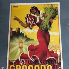 Affissi: CARTEL - POSTER - GRANADA - FIESTAS DE CORPUS CHRISTI - AÑO 1950 - SERRANO CUESTA. Lote 217978293