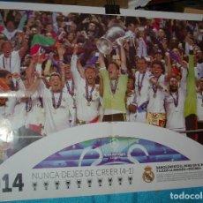 Carteles: REAL MADRID SE LLEVA LA 10ª POSTER EN 68X48 - LEER Y VER FOTOS Y ENVIOS. Lote 218394301