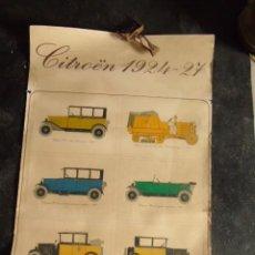 Carteles: CITROEN CARTEL ANTIGUO MODELO COCHE 1924 1927 CROISIERE NOIRE. Lote 218433472