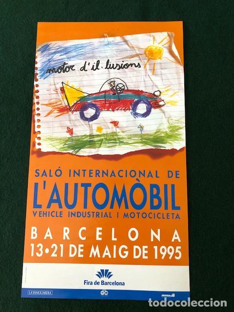 POSTER - CARTEL - SALON INTERNACIONAL DEL AUTOMOVIL - BARCELONA 1995 - FIRA DE BARCELONA (Coleccionismo - Carteles Gran Formato - Carteles Varios)