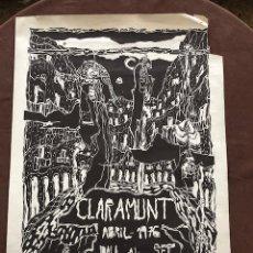Cartazes: POSTER - CARTEL - CLARAMUNT - GALERIA DART DAU AL SET - 1976. Lote 218620700