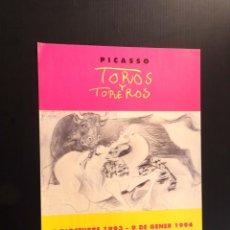 Carteles: POSTER - CARTEL - PICASSO - TOROS Y TOREROS - MUSEU PICASSO - AÑO 1994. Lote 218801720