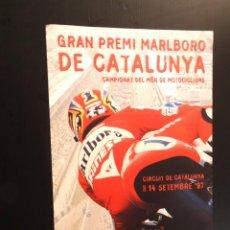 Carteles: POSTER - CARTEL - GRAN PREMI MARLBORO DE CATALUNYA - CAMPIONAT DEL MON DE MOTOCICLISME - 1997. Lote 218805332