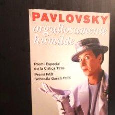 Carteles: POSTER - CARTEL - PAVLOSKY - TEATRENEU - 1996. Lote 218807792