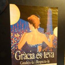 Carteles: POSTER - CARTEL - FESTA MAJOR DE GRACIA - 1988. Lote 218813597