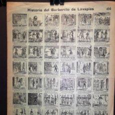 Affiches: AUCA - ALELUYA - HISTORIA DEL BARBERILLO DE LAVAPIÉS - 32 X 44 CM - PRINCIPIOS SIGLO XX. Lote 218962757