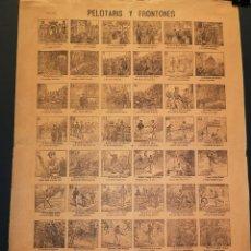 Affiches: AUCA - ALELUYA - PELOTARIS Y FRONTONES - 32 X 44 CM - PRINCIPIOS SIGLO XX. Lote 218963177