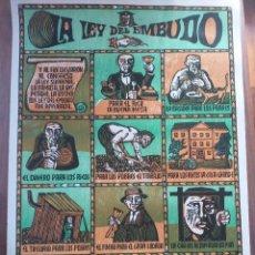 """Carteles: CARTEL F. ALVAREZ """"LA LEY DEL EMBUDO"""". Lote 219004748"""