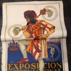 Carteles: CARTEL EXPOSICION INTERNACIONAL BARCELONA 1929 , ILUSTRADO POR ROJAS , 100 X 70 CM, ORIGINAL. Lote 219013391