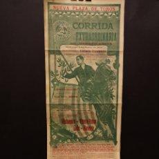 Carteles: CARTEL DE TOROS - MACHAQUITO - VICENTE PASTOR - GALLO - MANOLETE - 1912 - 16 X 43 CM. Lote 219176696