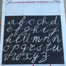 Carteles: CARTEL EDUCACIÓN ALFABETICEMOS - PROYECTO UNIVERSITARIO COSEC UNESCO. Lote 219496121