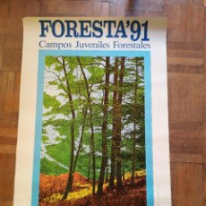 Carteles: CARTEL FORESTS 91. CAMPOS JUVENILES FORESTALES. Lote 220189040