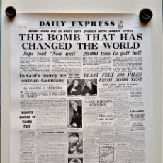 Affiches: 1945 DAILY EXPRESS CARTEL POSTER PORTADA BOMBA ATOMICA - 59 X 43.CM. Lote 220433701