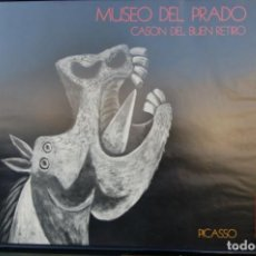 Carteles: POSTER BOCETO DEL GUERNICA. MUSEO DEL PARDO-CASÓN DEL BUEN RETIRO. ENMARCADO 97X86.. Lote 220717452