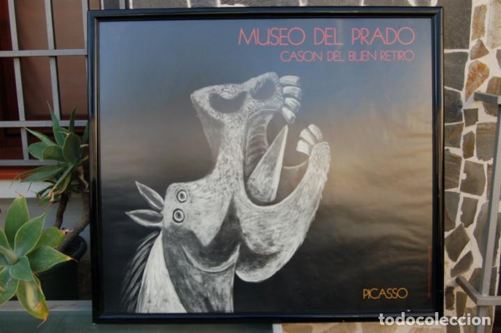 Carteles: Poster boceto del Guernica. Museo del Pardo-Casón del Buen Retiro. Enmarcado 97x86. - Foto 2 - 220717452