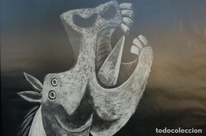 Carteles: Poster boceto del Guernica. Museo del Pardo-Casón del Buen Retiro. Enmarcado 97x86. - Foto 3 - 220717452