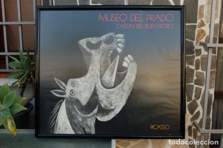 Carteles: Poster boceto del Guernica. Museo del Pardo-Casón del Buen Retiro. Enmarcado 97x86. - Foto 6 - 220717452
