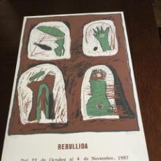 Carteles: CARTEL EXPOSICION REBULLIDA. Lote 221666038
