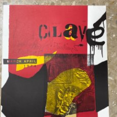 Carteles: CP-3. CARTEL CLAVÉ, MARCH APRIL 1974.WEINTRAUB GALLERY, NEW YORK.. Lote 221889245