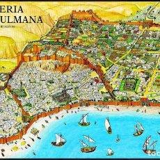 """Carteles: ALMERÍA DEL SIGLO XI. PINTURA DE FRANCISCO GARCÍA """"PITUCO"""". PLANO IDEALIZADO DE ALMERIA.1989. Lote 221908593"""