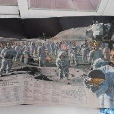 Carteles: EXCEPCIONAL PÓSTER DE NACIONAL GEOGRAPHIC. AÑOS 70. COMPAÑEROS EN LA MAYOR AVENTURA DE LA HUMANIDAD.. Lote 222271032