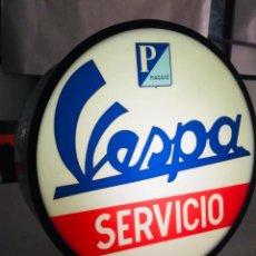 Carteles: PRECIOSO CARTEL LUMINOSO DE VESPA CON INTERRUPTOR - COMO NUEVO. Lote 222564550