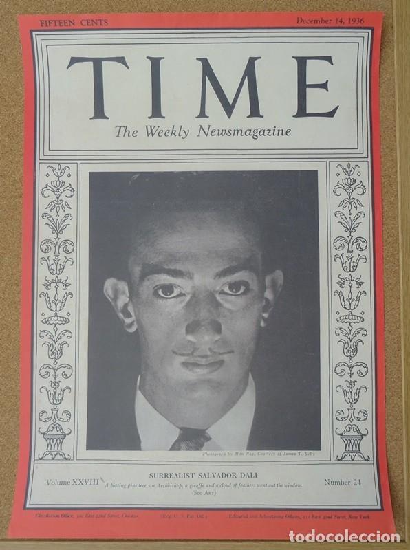 CARTEL TIME SALVADOR DALI (Coleccionismo - Carteles Gran Formato - Carteles Varios)