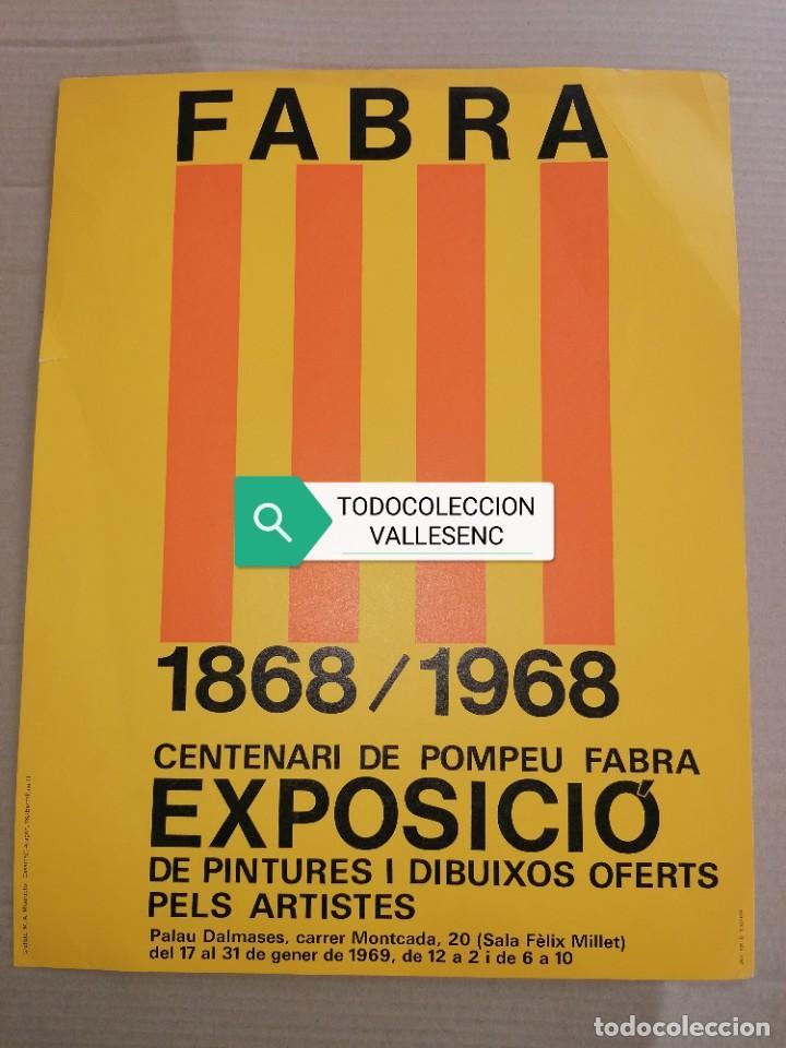 CARTEL 30X38,5CMS POMPEU FABRA, BARCELONA 1969 (Coleccionismo - Carteles Gran Formato - Carteles Varios)