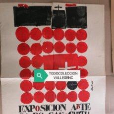 Carteles: GRAN CARTEL 89X64CMS ARTE SACRO BARCELONA 1965 GÜELL. Lote 227195266