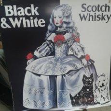 Carteles: BLACK & WHITE Y MENINA, DE ANTONIO DE FELIPE CARTEL POP ART ORIGINAL, GIGANTE 100X100 CM.. Lote 227232456