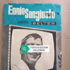 Carteles: CARTEL 32X48CMS ENNIO SANGIUSTO BELTER. Lote 227191445