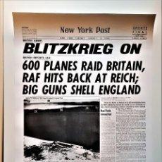 Carteles: 1940 NEW YORK POST CARTEL POSTER PORTADA PERIODICO - 60 X 43.CM. Lote 227923240
