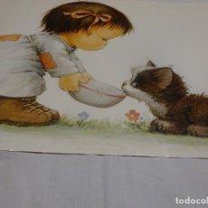 Carteles: CARTEL POSTER INFANTIL GRANDE, 60X42 CMS,MOREHEAD, PRINTED IN GERMANY, 1987. Lote 229119772