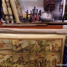 Carteles: COLECCION CROMOS CROMOLITOGRAFIA SATURNINO CALLEJA HISTORIA SAGRADA 1876 TIPO MAPA ESCUELA. Lote 229323210